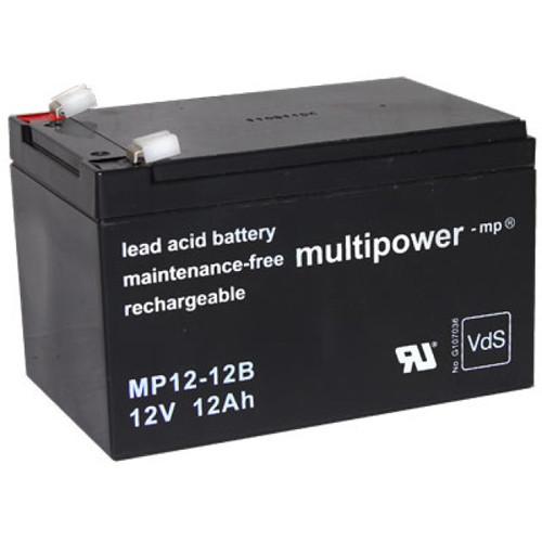Multipower Bleiakku MP12-12B 12,0Volt 12,0Ah mit 6,3mm Steckanschlüssen