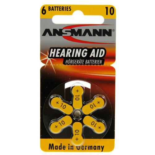 ANSMANN Hörgeräte-Batterien PR10 AZA10 vom Typ 10 (im 6er Pack)