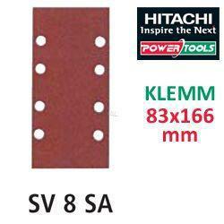 HiKoki Schleifpapier SP f. Klemm Schwingschleifer 83x166 K100