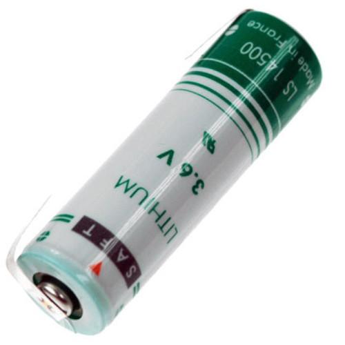 Saft Lithium Batterie LS 14500 Mignon 3,6Volt AA mit Lötfahnen in U-Form