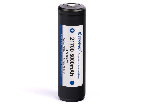 Keeppower 21700 - 5000mAh, 3,6V - 3,7V Li-Ion-Akku PCB geschützt