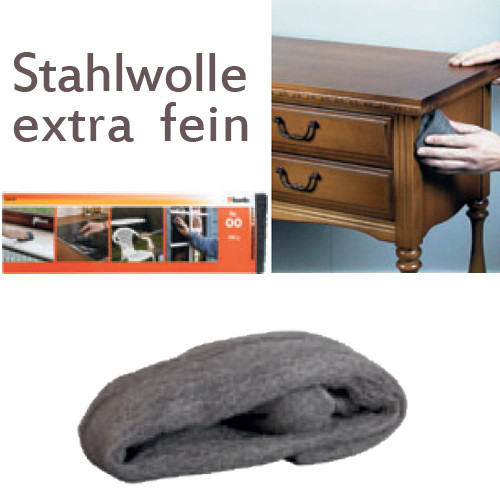Extra feine Stahlwolle Nr. 000, 200g - für Metall und Holz