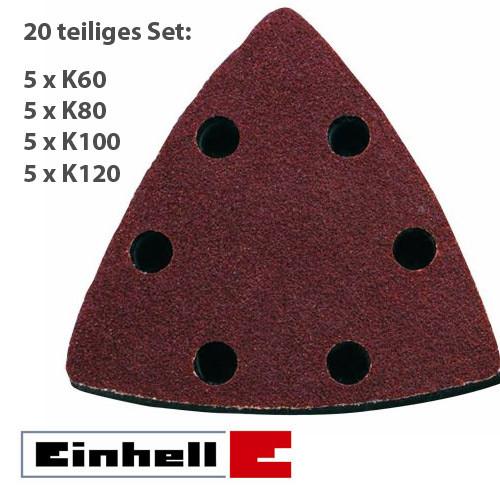 Einhell Schleifpapier-Set, 82mm, 20tlg Multifunktionswerkzeug-Zubehör (4465015)
