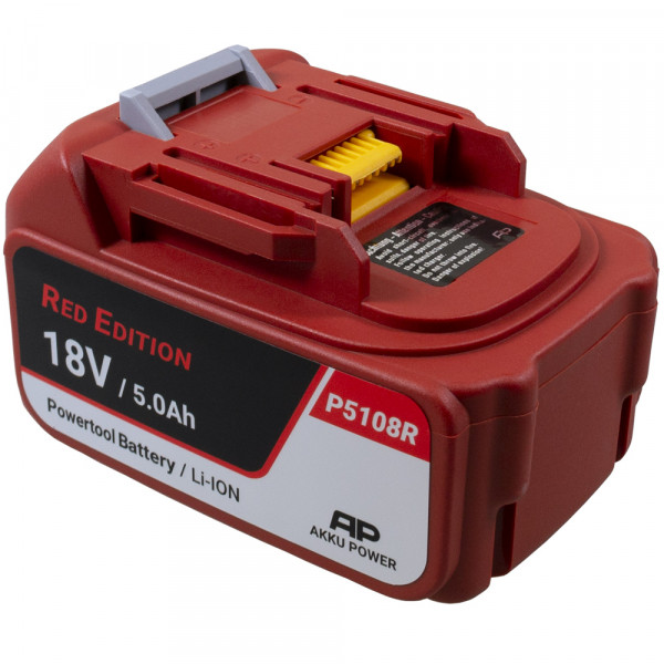 P5108R Ersatzakku zu Makita Makstar BL1850 18V 5,0Ah Li-Ion - Red-Edition Akku