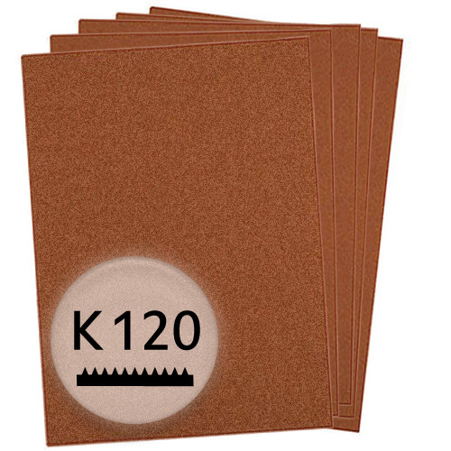 K120 Schleifpapier in 50 Bögen, 230x280mm - für Holz und Farbe