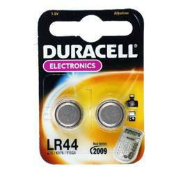 2 Stück Duracell LR44 Knopfzelle mit 1,5 Volt