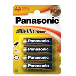 Panasonic LR6AP/4BP Alkaline Batterien, 4 Stück Mignon LR6 AA