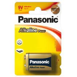 Panasonic 9Volt Block Batterie 6AM6 Alkaline Power AlMN im 1er Blister