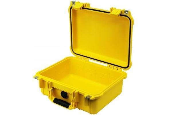 PELI 1400 Schutzkoffer, Case gelb mit Würfelschaum