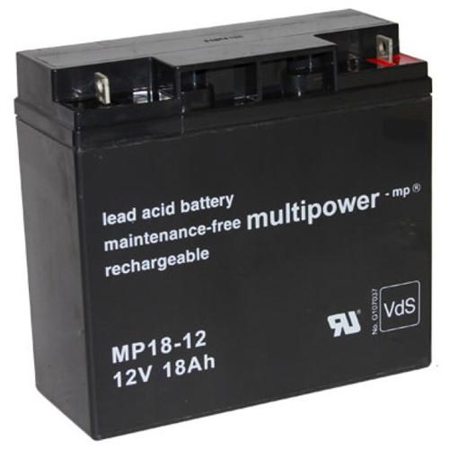 Multipower Bleiakku MP18-12 12,0Volt 18,0Ah mit M5 Schraubanschluss
