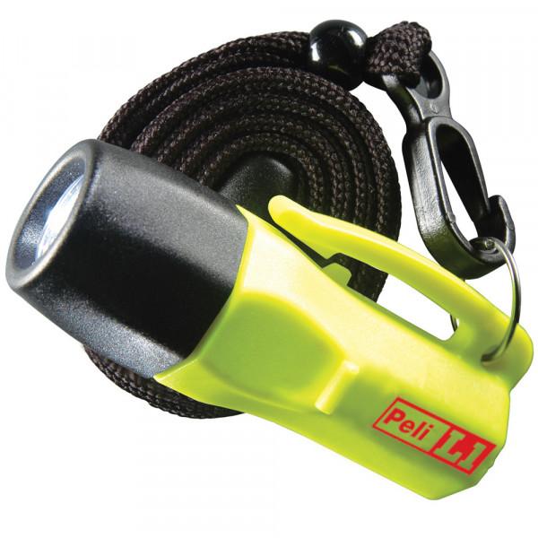 Peli L1 1930 LED Taschenlampe mit Schlaufe, EX-geschützt Zone 2, Gelb, inkl. Knopfzellen
