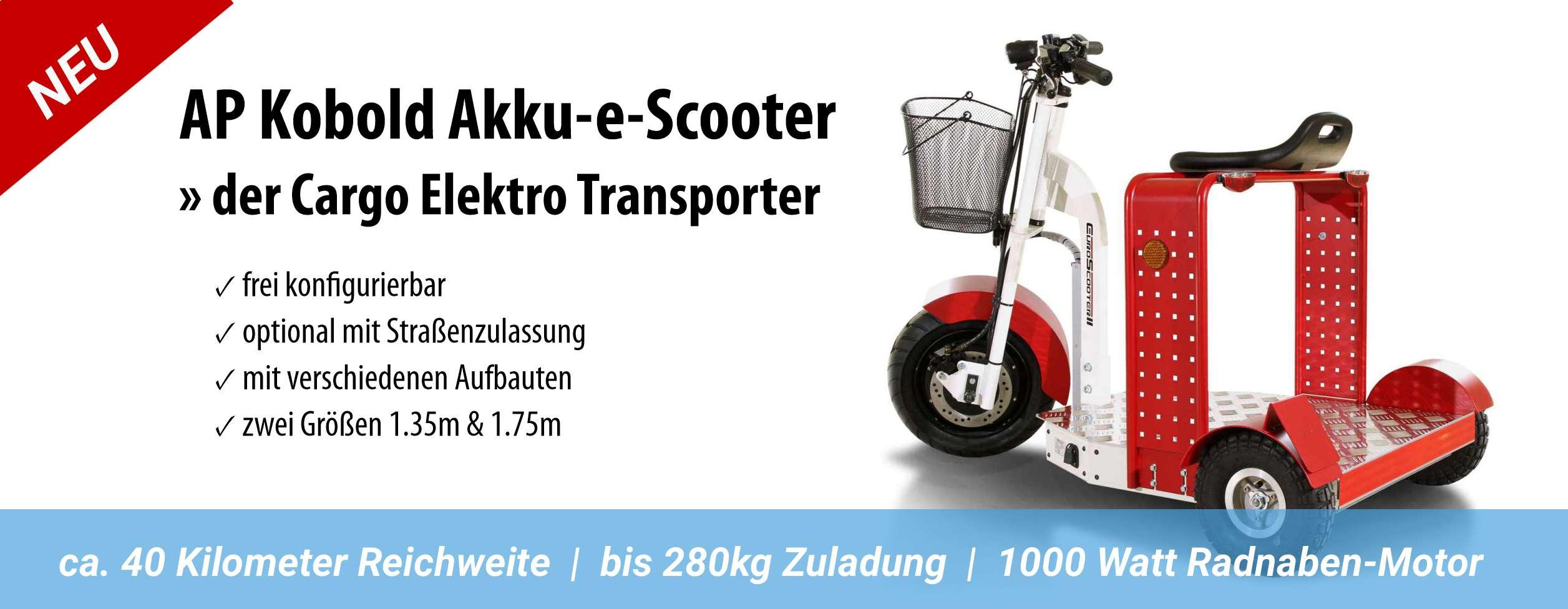 Elektro-Transporter, e-Cargo Scooter