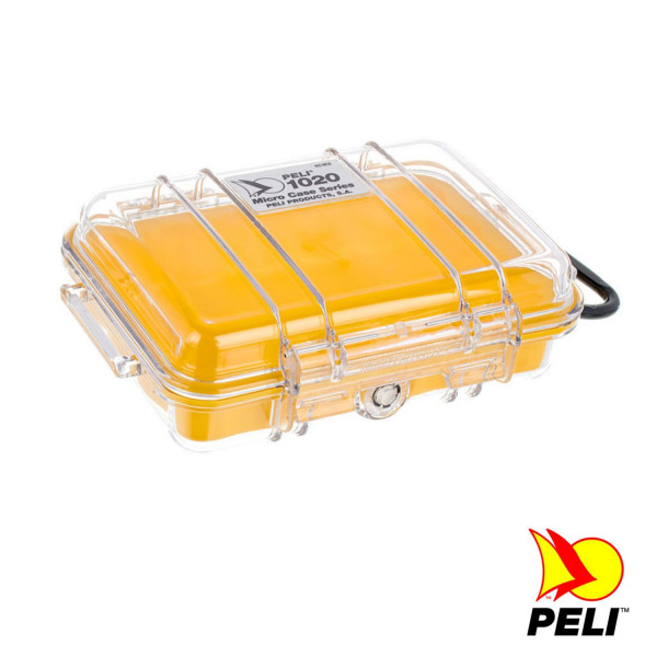 Peli 1020 Koffer, Micro Case, gelb/transparent