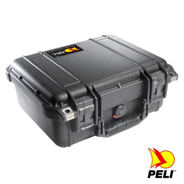 Peli 1400 Schutzkoffer, Case schwarz mit Würfelschaum