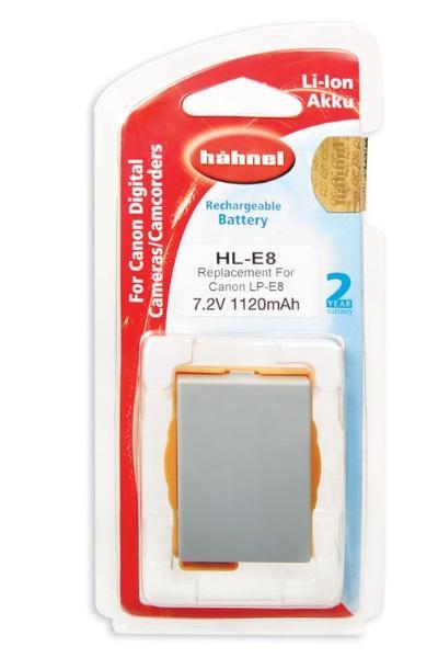 Hähnel Akku passend für Canon LP-E8 7,4Volt 1.120mAh Li-Ion (kein Original)