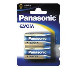 PANASONIC Fotobatterie Evoia LR14 im 2-er Blister 1,5Volt Baby C Batterie, LR14EE/2BP
