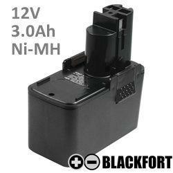 12V Flach Akku passend für Bosch 2 607 335 250 mit 3,0Ah Ni-MH
