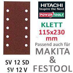 HiKoki Schleifpapier SP f. Klett Schwingschleifer 115x230 K40