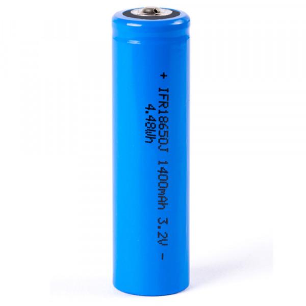 LiFePo4 IFR-18650 Akku 1400mAh 3,2V (Pluspol erhöht)