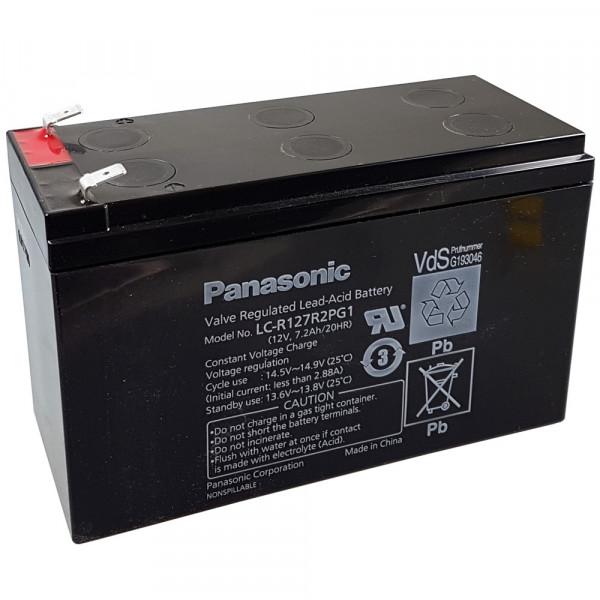 Panasonic Bleiakku LC-R127R2PG1 12,0Volt 7,2Ah mit 6,3mm Steckanschlüssen