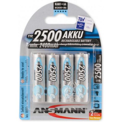 Ansmann NiMH Akku Mignon AA 2500mAh maxE 4er Blister