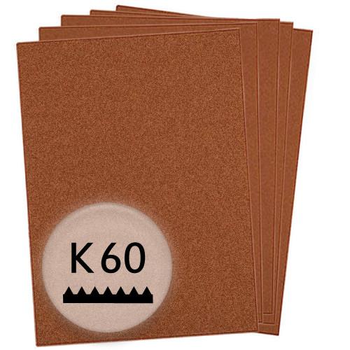 K60 Schleifpapier in 50 Bögen, 230x280mm - für Holz und Farbe