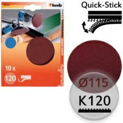 K120 Schleifscheiben Ø 115m, Quick-Stick - für Holz, Metall, Kunststoff
