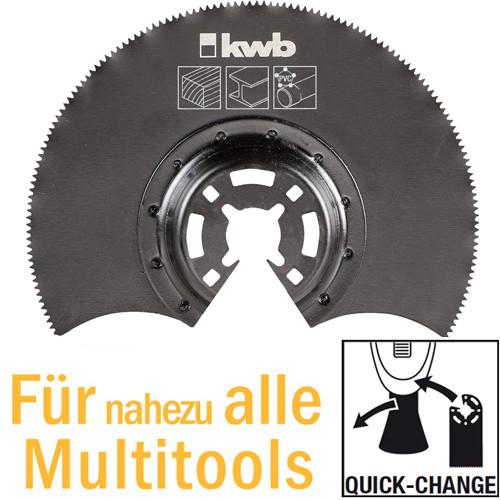 Halbrundes Tauchsägeblatt HSS Ø 80mm für Multitools, mit Quick-Change