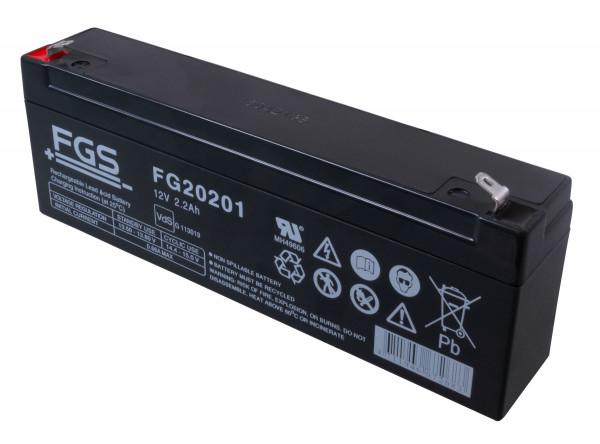 FGS FG20201/FG20231 Bleiakku 12,0 Volt 2,0 Ah mit 4,8mm Steckanschlüssen