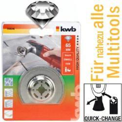 Diamantsägeblatt, halbrund Ø 65 mm für Multitools, mit Quick-Change