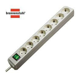 brennenstuhl Steckdosenleiste Eco-Line, 8-fach, lichtgrau