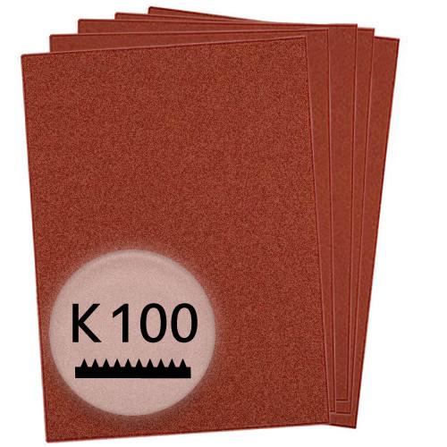 K100 Schleifpapier in 10 Bögen, 230x280mm - für Holz und Metall