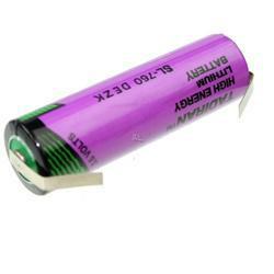 TADIRAN Lithium Batterie SL760/T Mignon 3,6V 2100mAh mit Lötfahne in U-Form