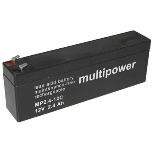MultiPower Bleiakku MP2.4-12C Zyklentyp 12,0Volt 2,4Ah mit 4,8mm Steckanschlüssen