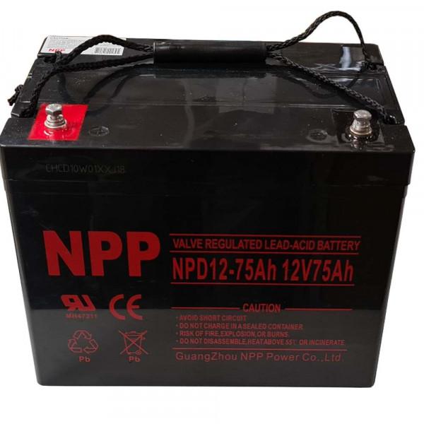 NPP Blei-Akku NPD12-75 12V / 75Ah zyklisch Anschluss T14