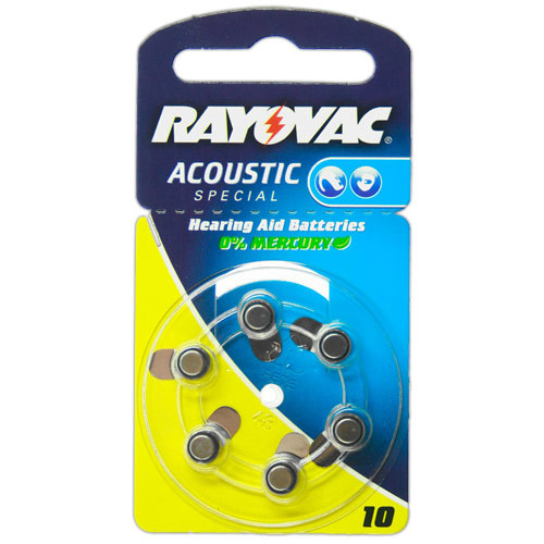 VARTA Hörgeräte-Batterien HA10 Acoustic Special vom Typ 10 (im 6er Pack)
