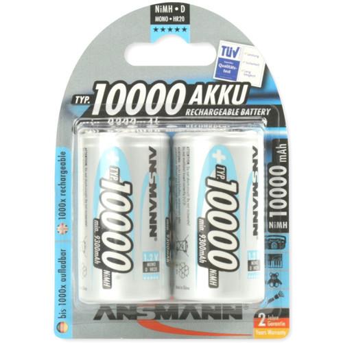 Ansmann NiMH Akku Mono D Typ 10000 min. 9300mAh 2er Blister