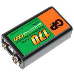 GP17R9H, 9V-Block Akku 6AM6, A8027 170mAh, NiMH, 9 Volt
