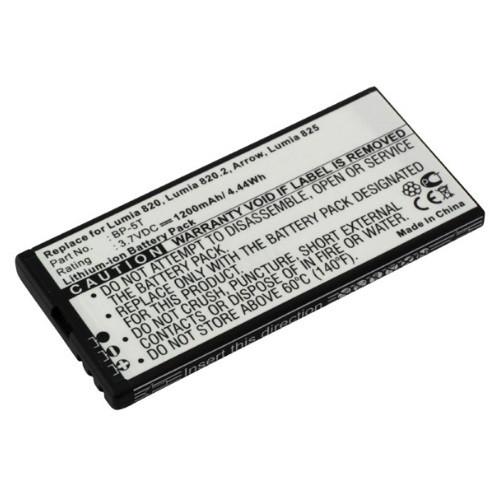 Akku passend für Nokia Lumia 820 (BP-5T) 3,7Volt 1.650mAh Li-Ion (kein Original)