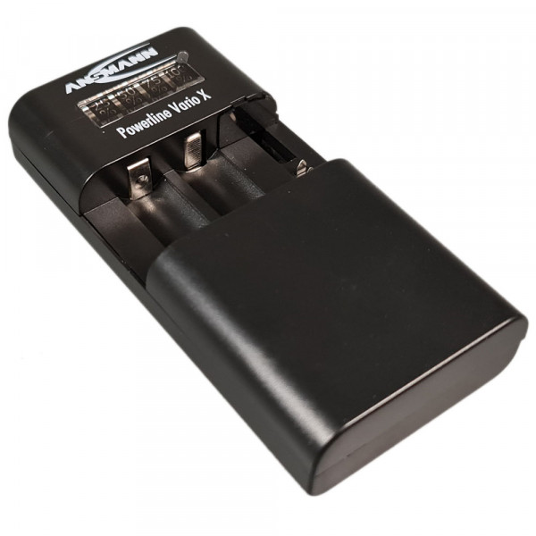 Ansmann Powerline Vario Ladegerät für Li-Ion/Li-Po Akkupacks oder 2 Mignon AA oder Micro AAA NiMH Ak