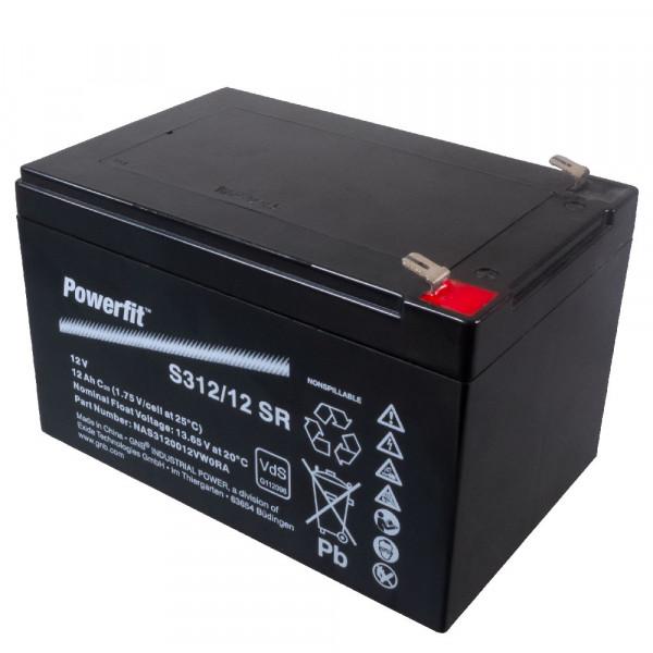 Exide Bleiakku Powerfit S312/12SR 12,0Volt 12.000mAh mit 6,3mm Steckanschlüssen