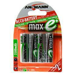 Ansmann maxE PLUS Mignon (AA) Akku 1,2 Volt 2500mAh NiMH im 4er Blister