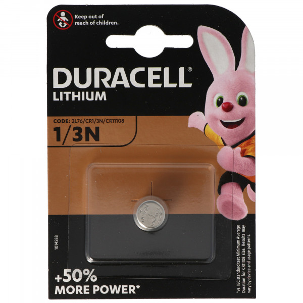 Duracell DL1/3N 3 Volt Photo Lithium Batterie