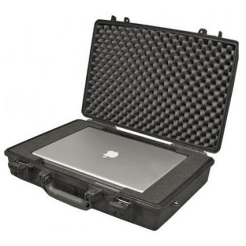 Peli 1490 Schutzkoffer, Laptop Case schwarz mit Noppenschaumstoff