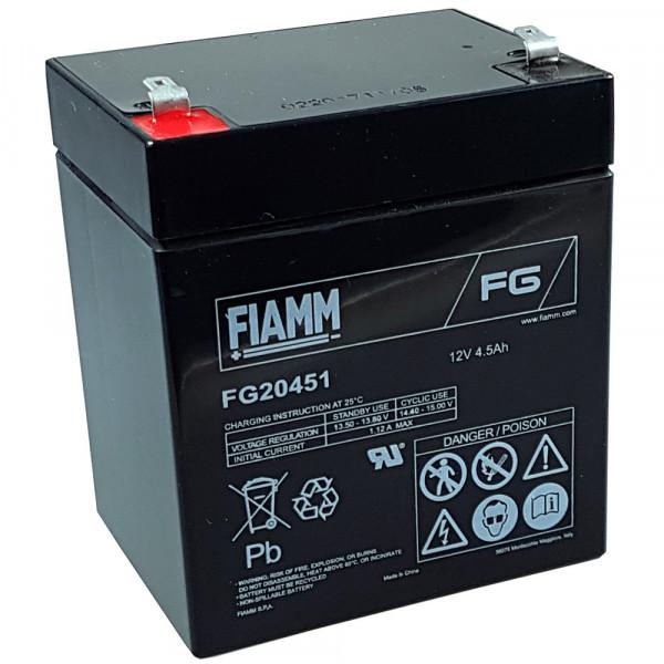 Fiamm Bleiakku FG20451 12,0 Volt 4,5 Ah mit 4,8mm Steckanschlüssen