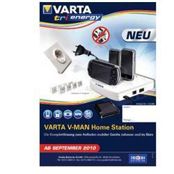 Varta Professional V-Man HomeStation Universal-Ladegerät für Handy, Navi, MP-3 Player, Gamepad und S