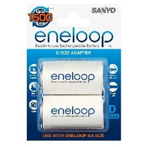 Panasonic Eneloop Adapter Adapter AA auf Mono D - 2er-Blister