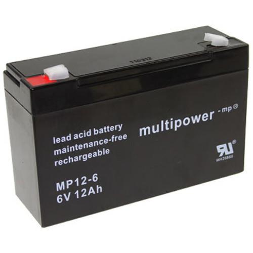 Multipower Bleiakku MP12-6 6,0 Volt 12 Ah mit 6,3mm Steckanschlüsse
