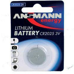 Ansmann CR2025 Lithium-Knopfzelle 3,0Volt 165mAh