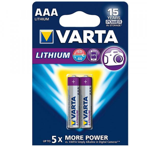 Varta Lithium Batterie AAA Micro Batterien FR03 - 2er Pack